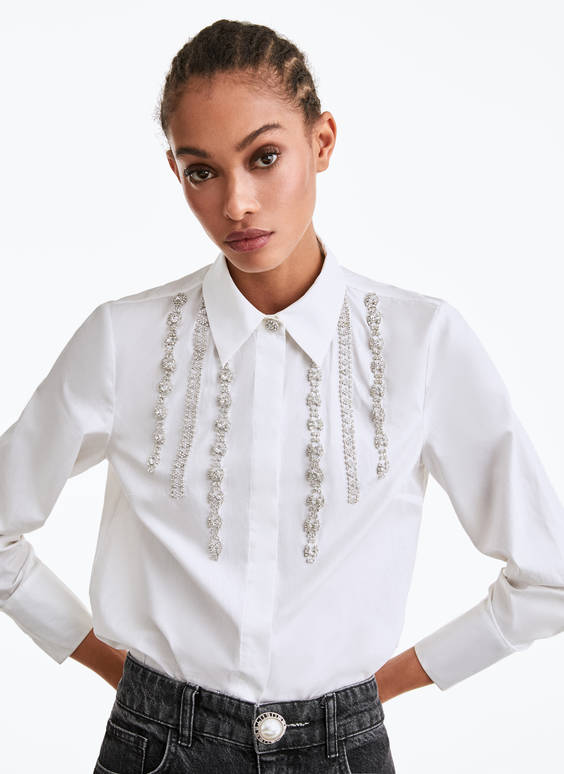 Kovboju stila krekls ar spīdīgiem akmentiņiem