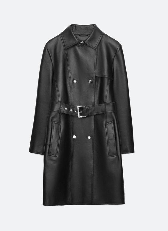 Cappotto cintura pelle