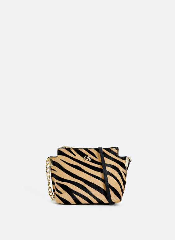 Animal print crossbody bag