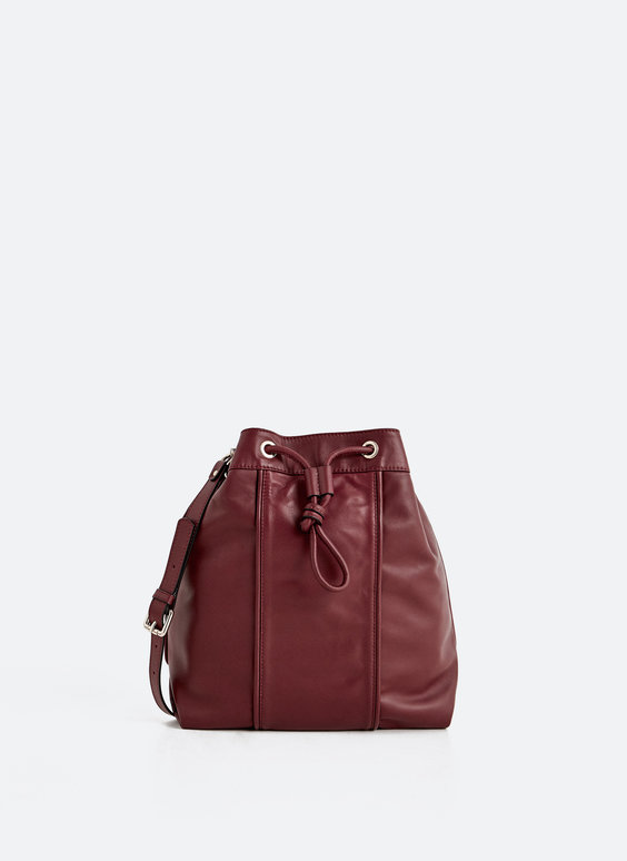 Leather bucket bag
