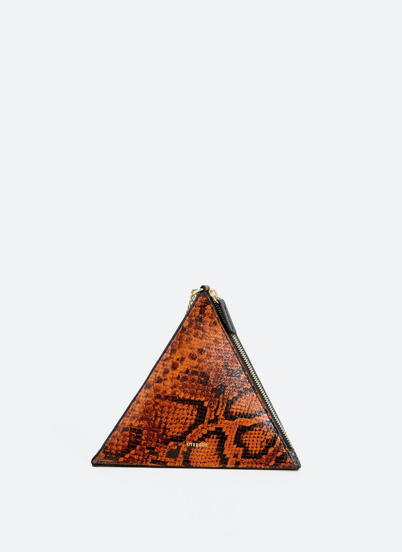 Triangle evening bag