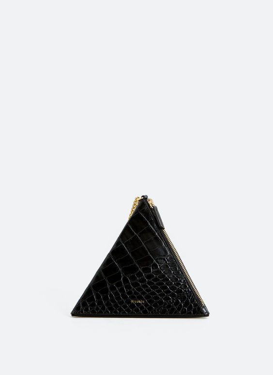 Triangular evening bag
