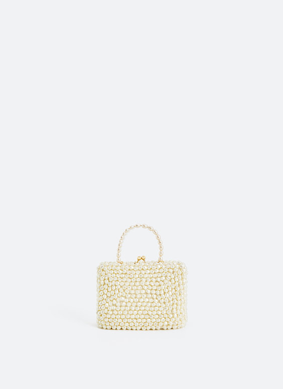 Bag with faux pearls