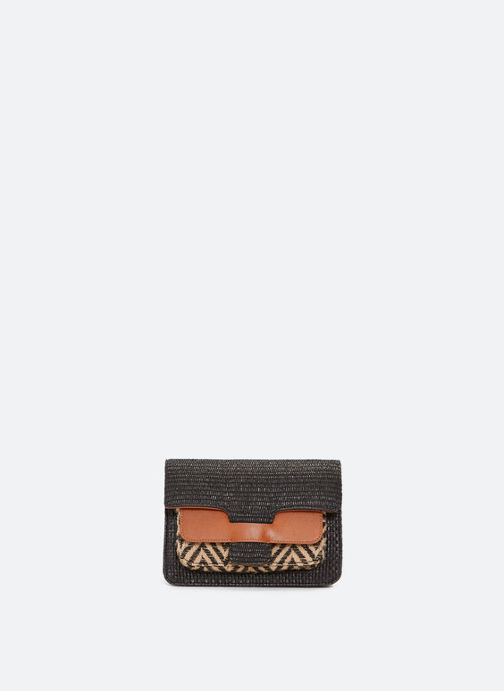 Raffia saddle bag