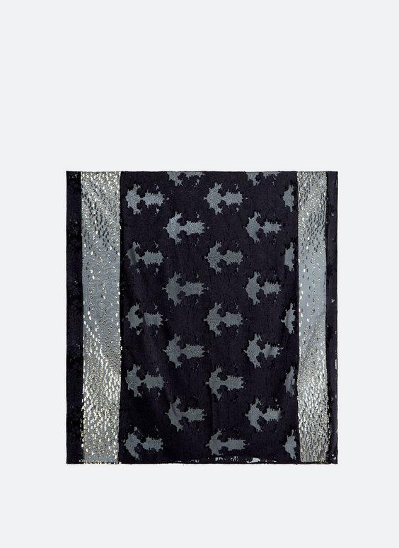 Devoré fil coupé scarf