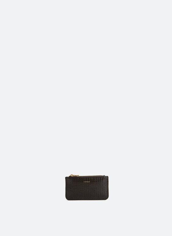 Croc texture double purse