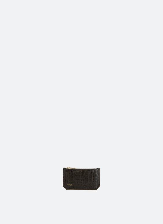 Porte-cartes motif croco