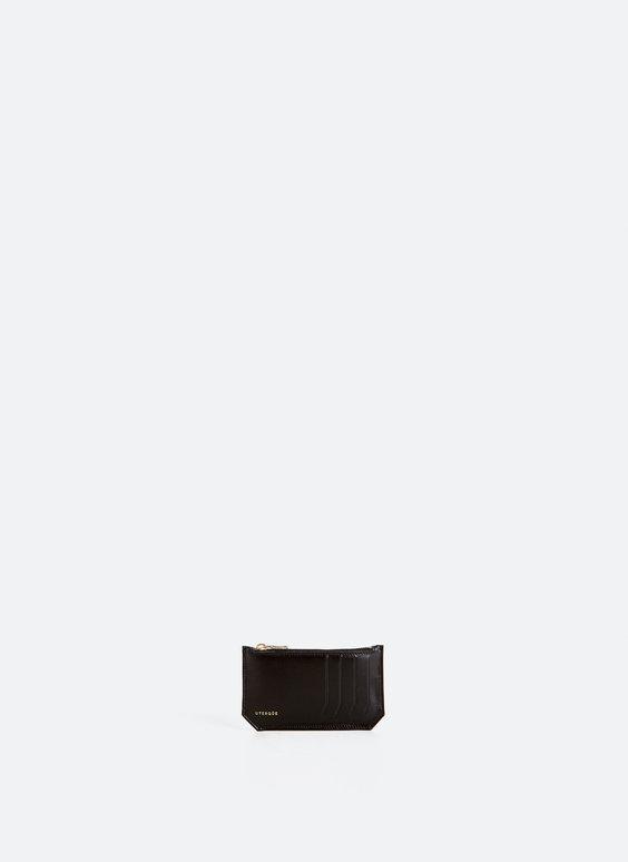 Porte-cartes zippé