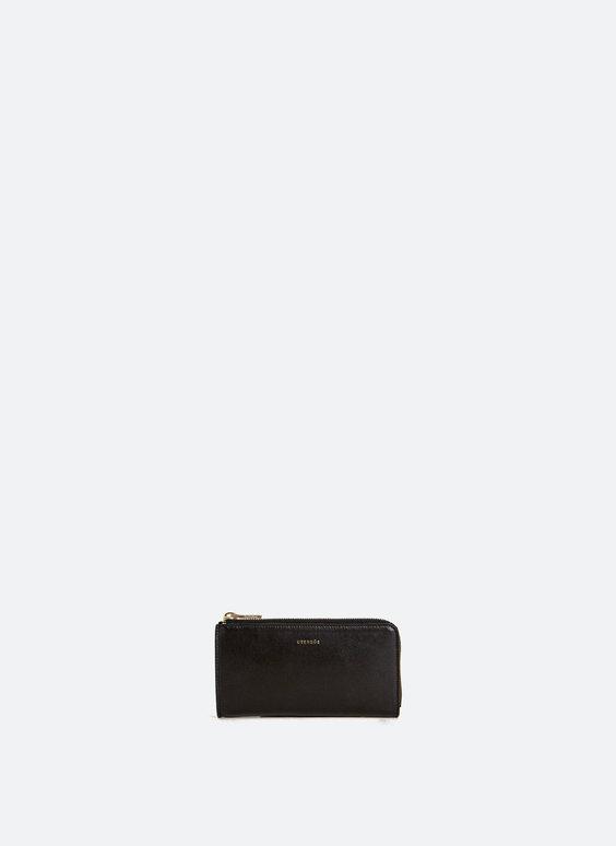 Brieftasche aus glattem Leder