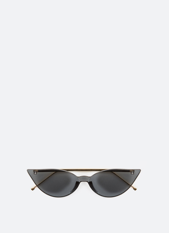 Cat-eye sunglasses without frames