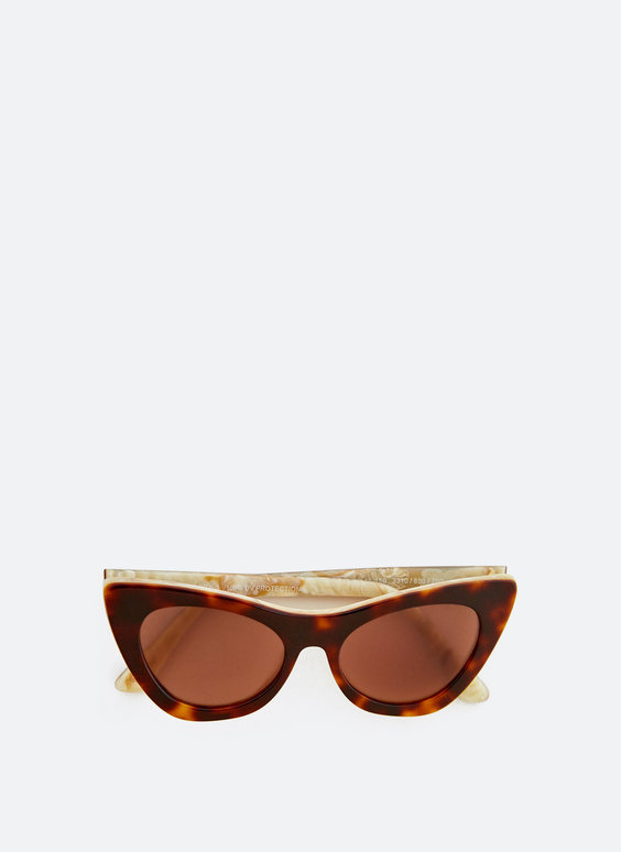 Two-tone cateye sunglasses