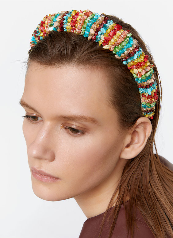 Headband with colourful stones