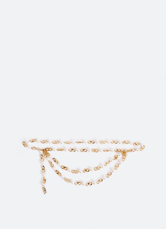 Grandininis diržas su dirbtiniais perlais