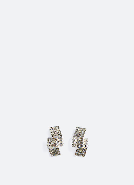 Rhinestone knot earrings