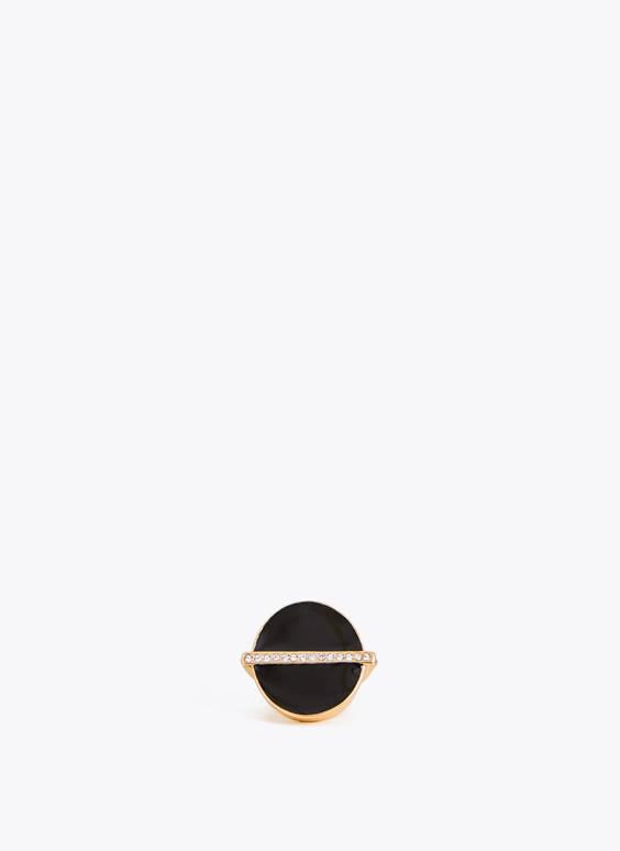 Prsten s pečatom i štrasom