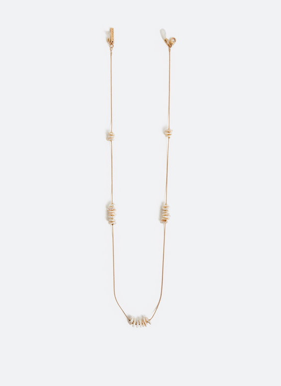 Pearl-beaded glasses chain