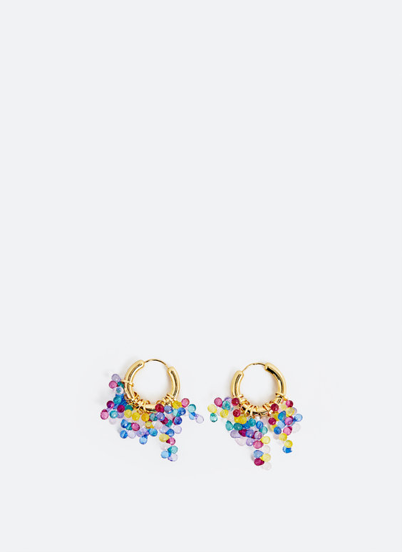 Multicoloured hoop earrings