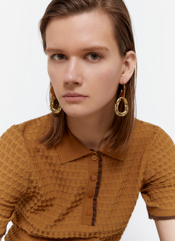 Gold-toned earrings