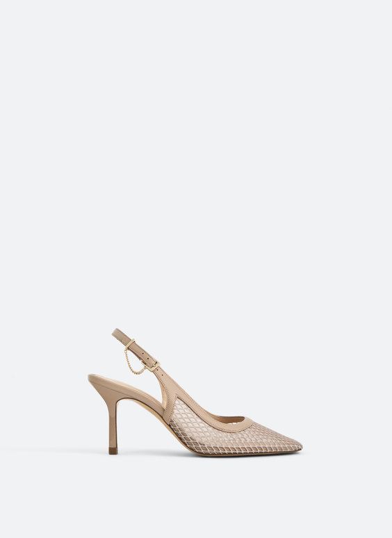 Mesh slingback shoes