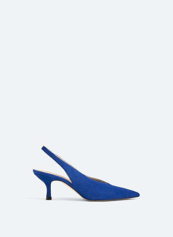 Suede slingback shoes