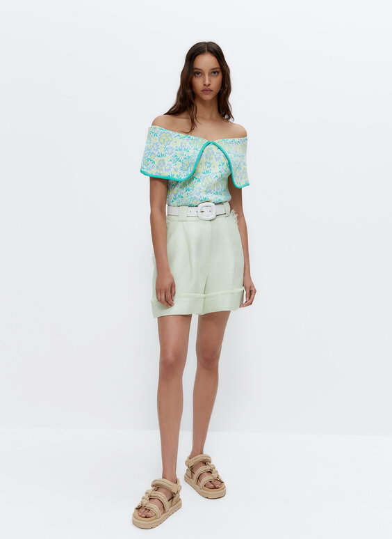 Frayed Bermuda shorts