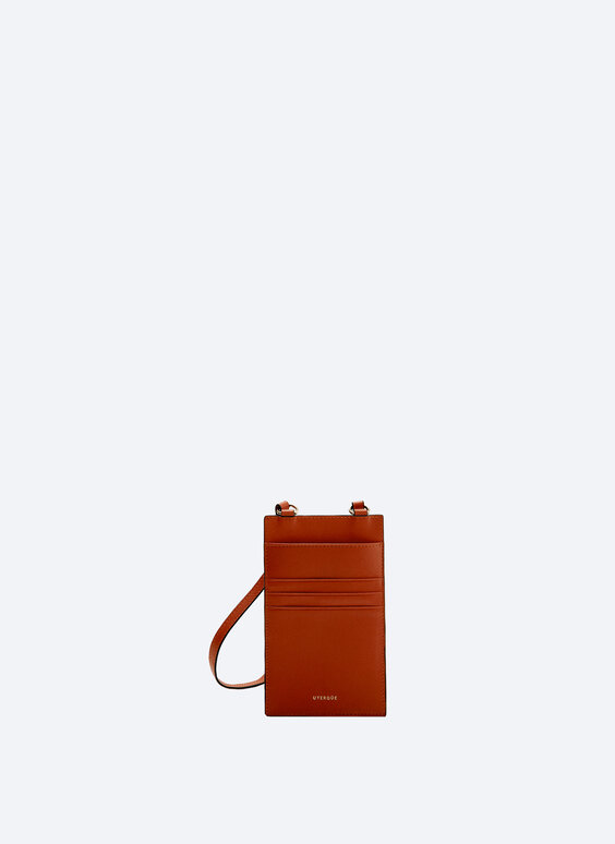 Leather mobile phone bag with card slot