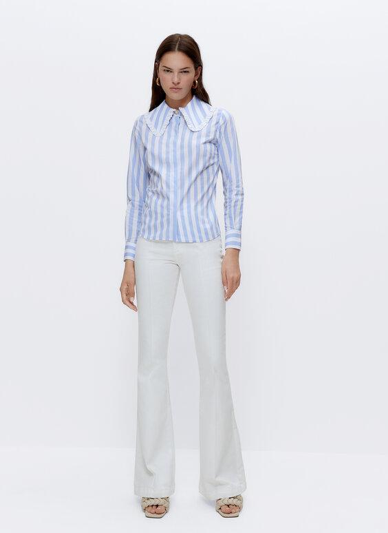 قميص بياقة بيتر بان