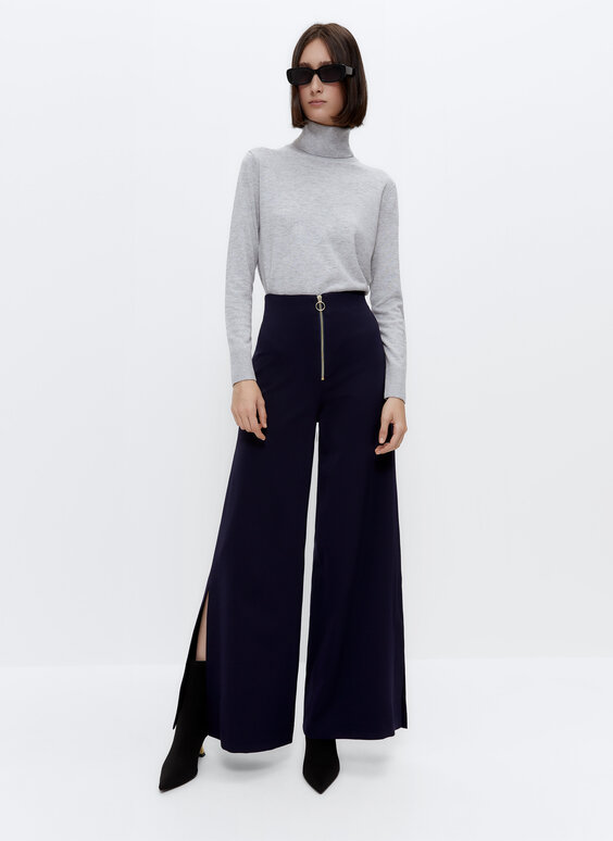Jersey cuello alto con lana