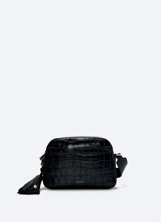 حقيبة جلدية بشُرّابة