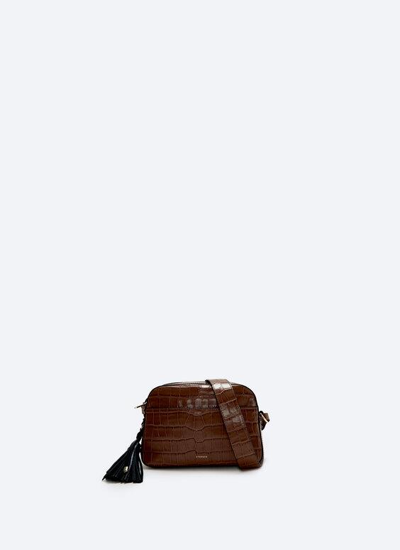 Kožená kabelka se střapcem