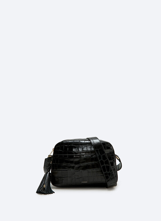 Leather bag with XL tassel