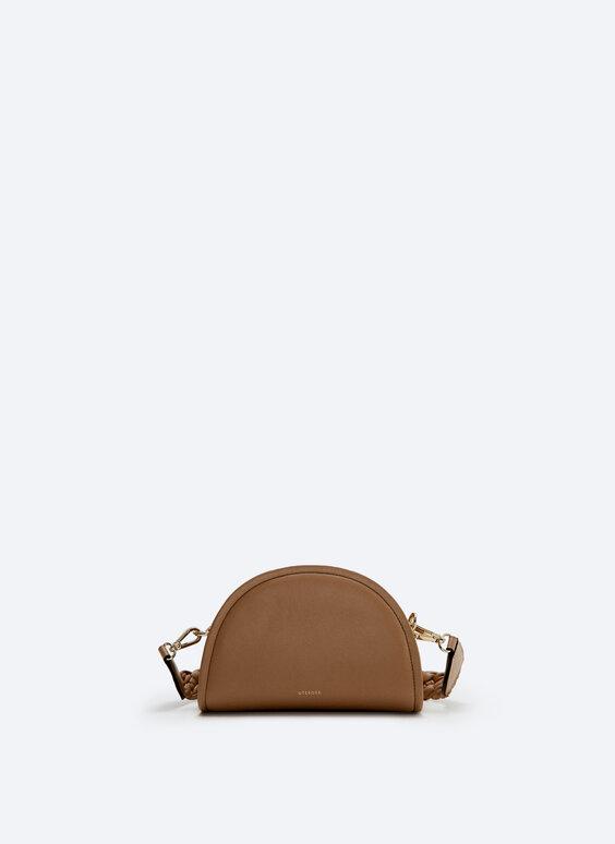 Leather half-moon crossbody bag