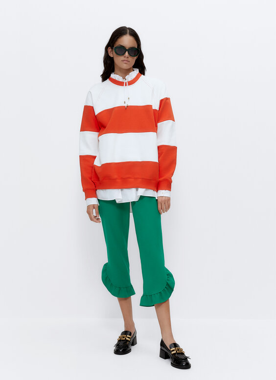 Svītrains džemperis 'BOYFRIEND'