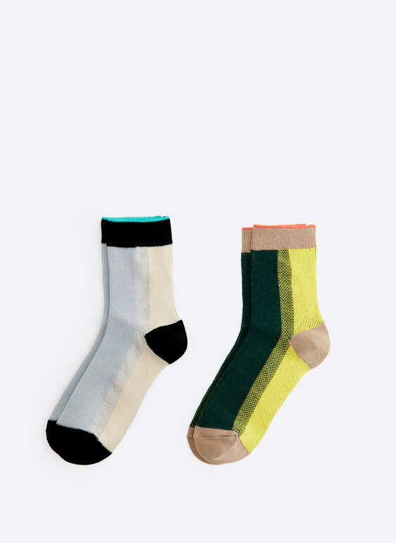 2-pack of sock with colourful stripes