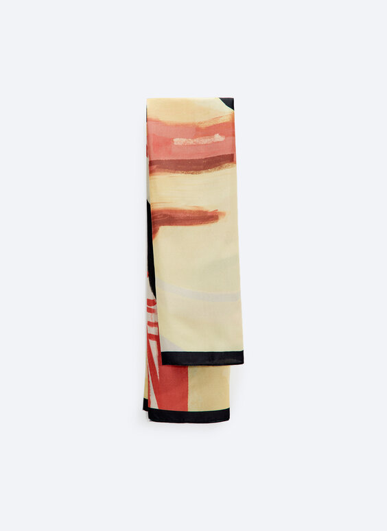 Flowing abstract scarf