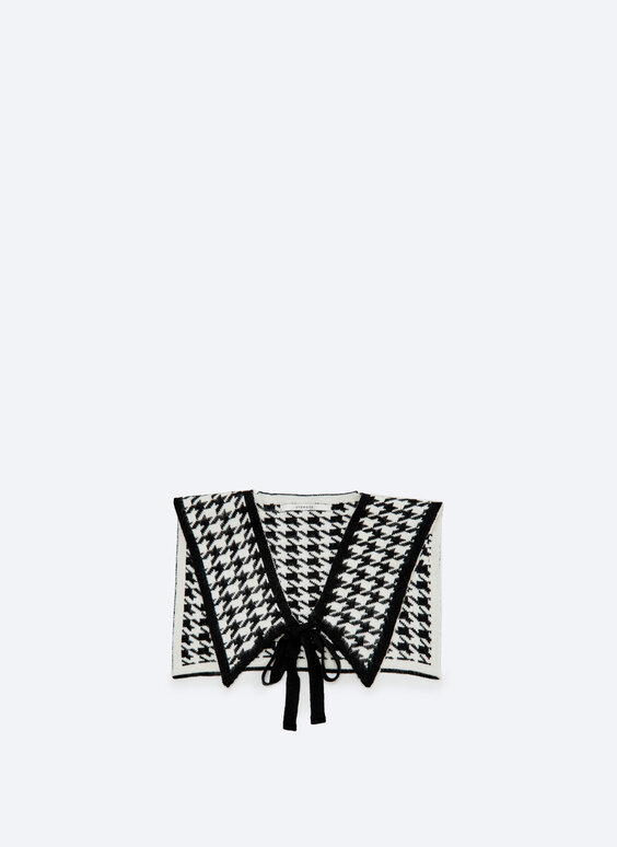 Houndstooth knit snood