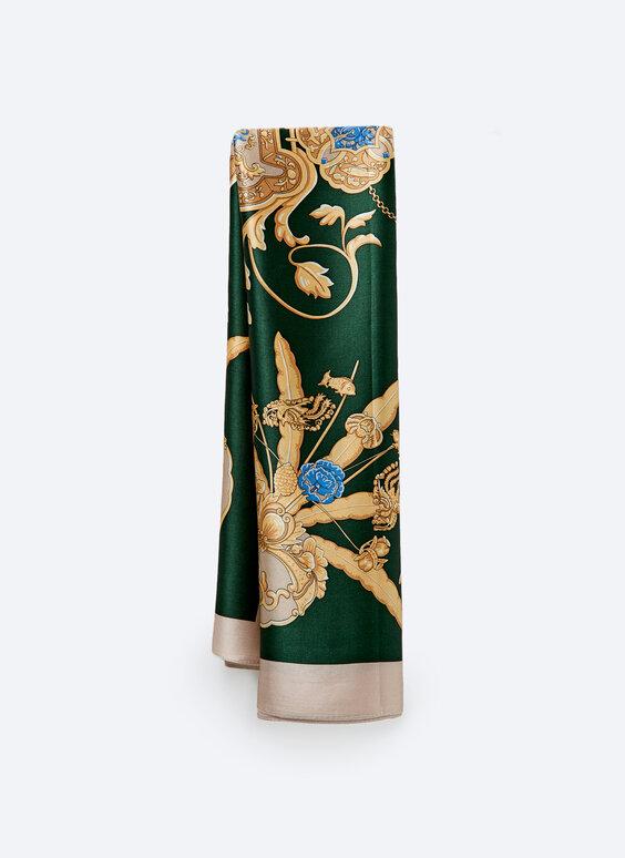 Mosaic vase silk scarf