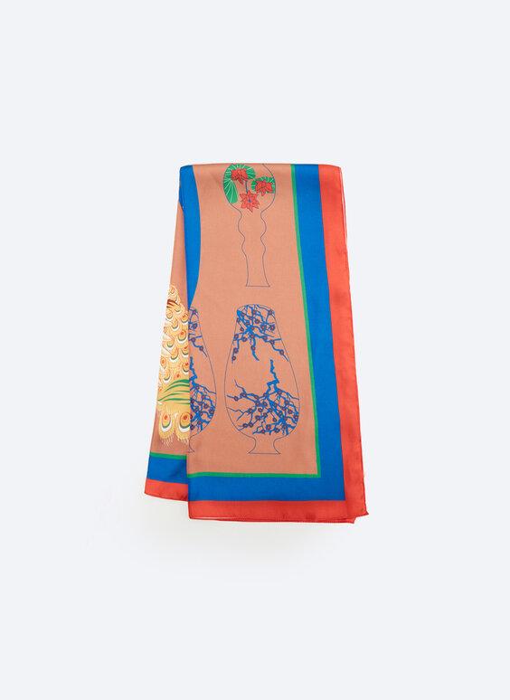 Tiger vase print scarf
