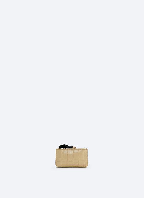 Шкіряний гаманець із двома блискавками