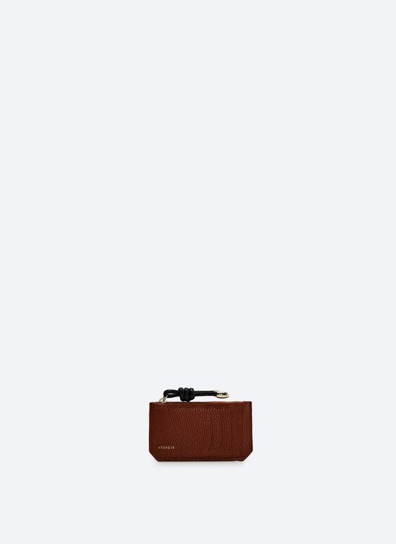 Plain leather card holder