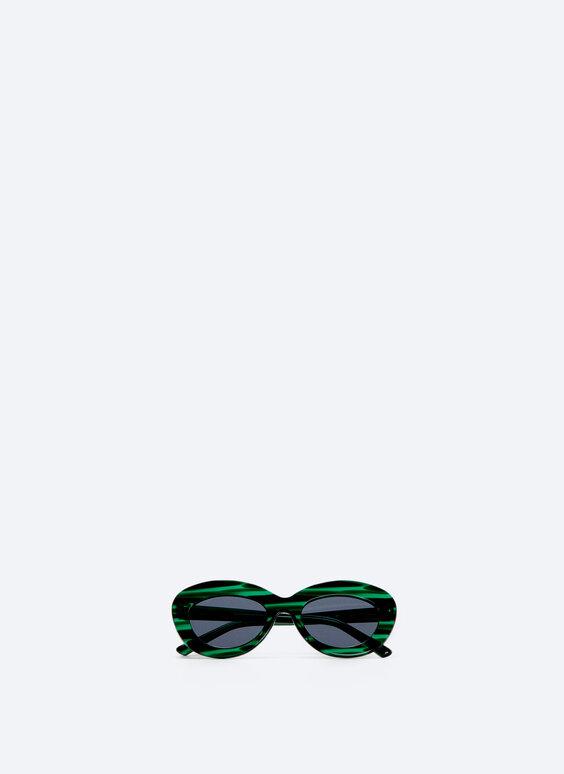 Oval green sunglasses