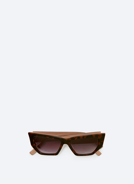 Sunglasses with angles in toffee