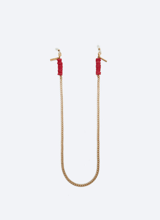 Coral glasses chain necklace