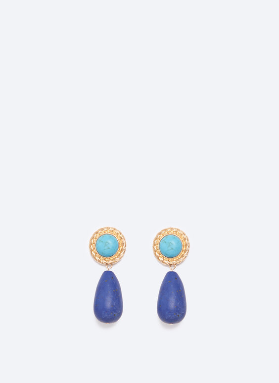 Turquoise and sodalite earrings