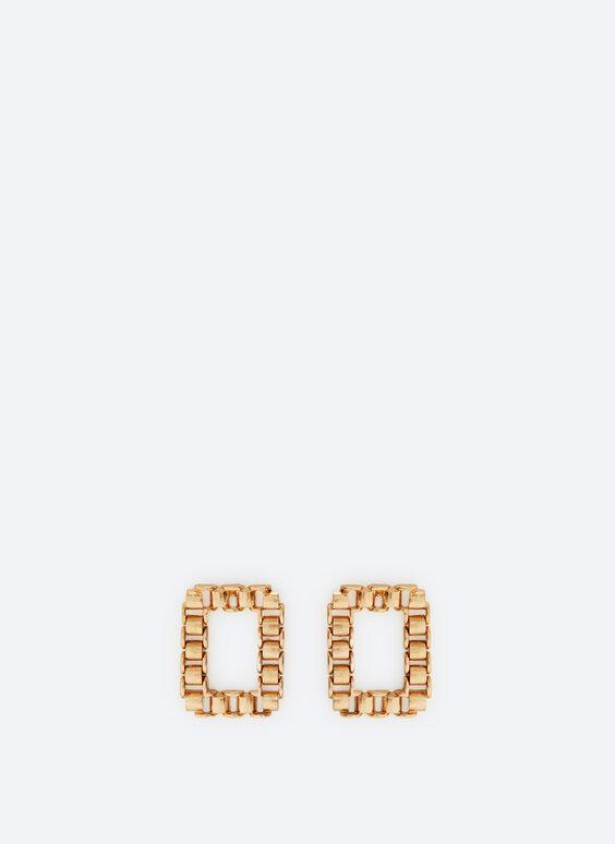 Rectangular chain earrings