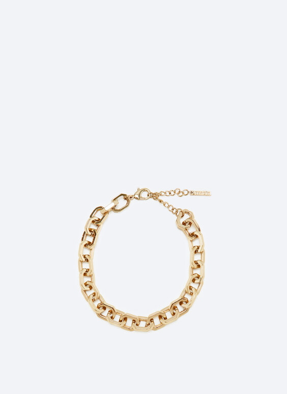 Geometric chain link necklace