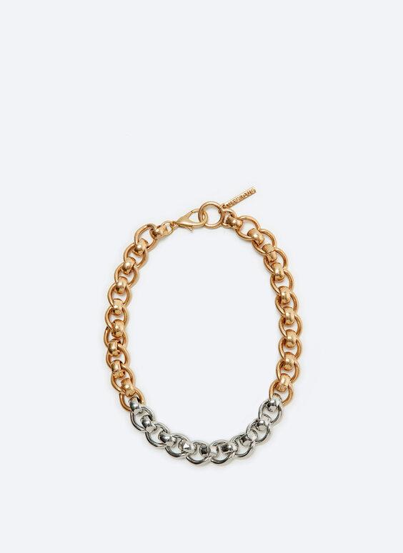 Contrast choker necklace