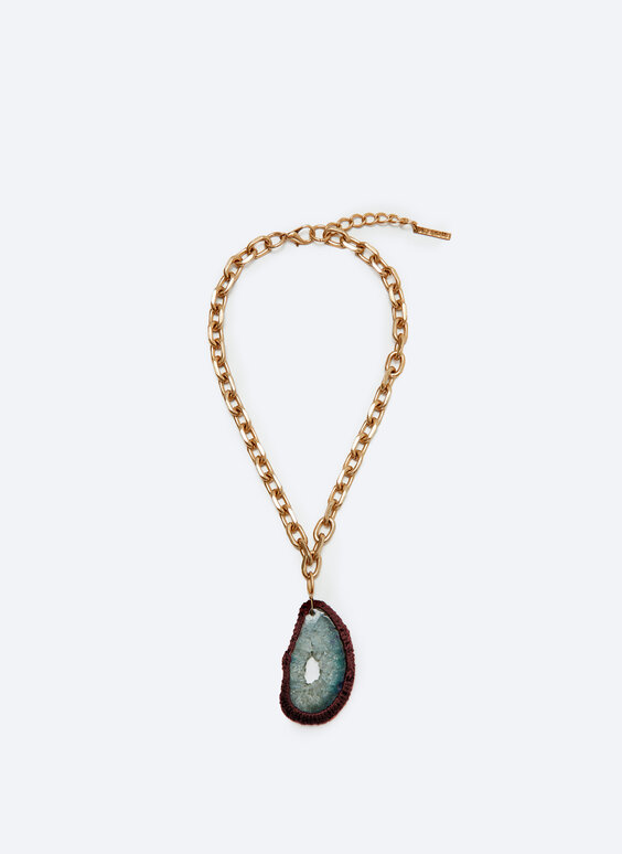 Choker with agate stones