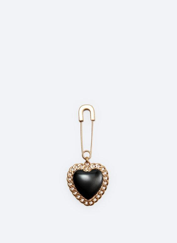 Heart key ring brooch