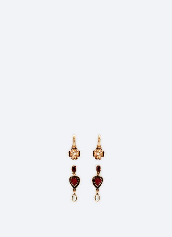 Pack of heart/flower changeable earrings